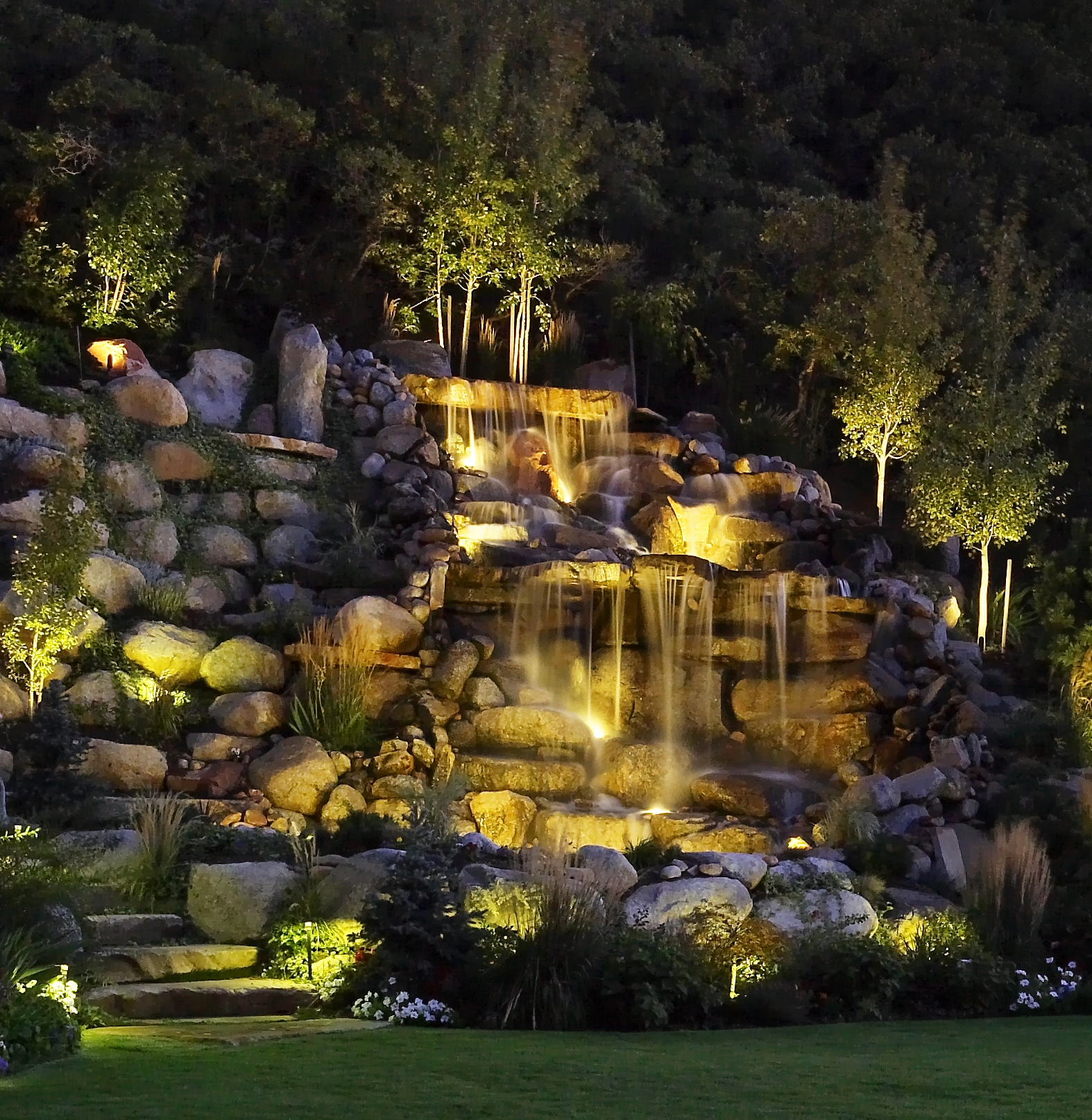 Waterfall Lighting Landscape Lighting LED Utah