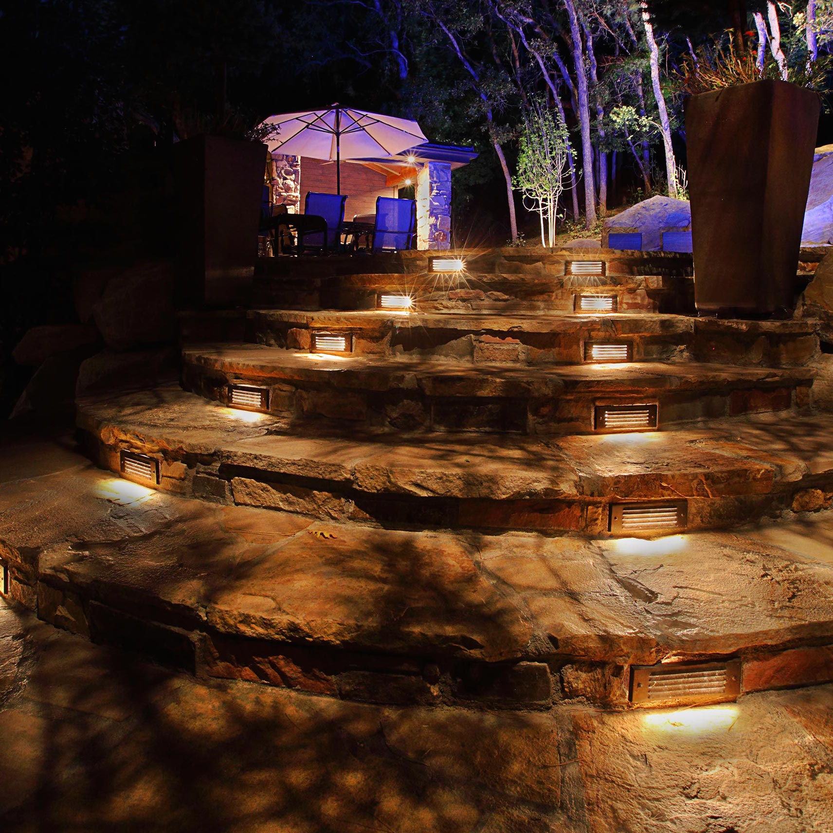 Tread Lighting In Your Outdoor Kitchen Lighting Will Help Keep You Safe.