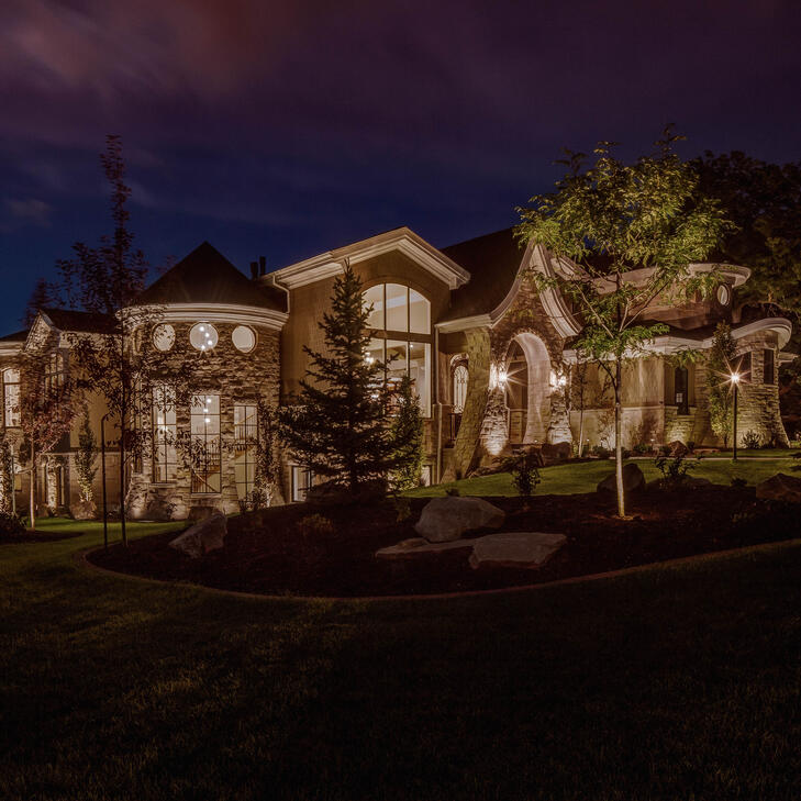 Outdoor security lighting is beautiful and keeps your property safe