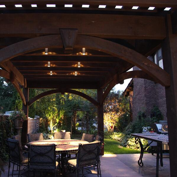 Patio Pergola And Deck Lighting Ideas And Pictures: How Much Does Outdoor Kitchen Lighting Cost?