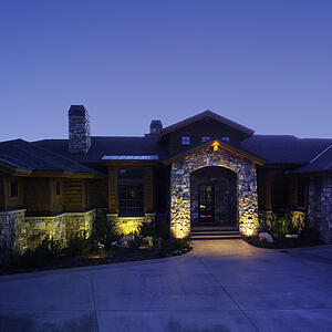 LED outdoor lighting is beautiful and cost effective.