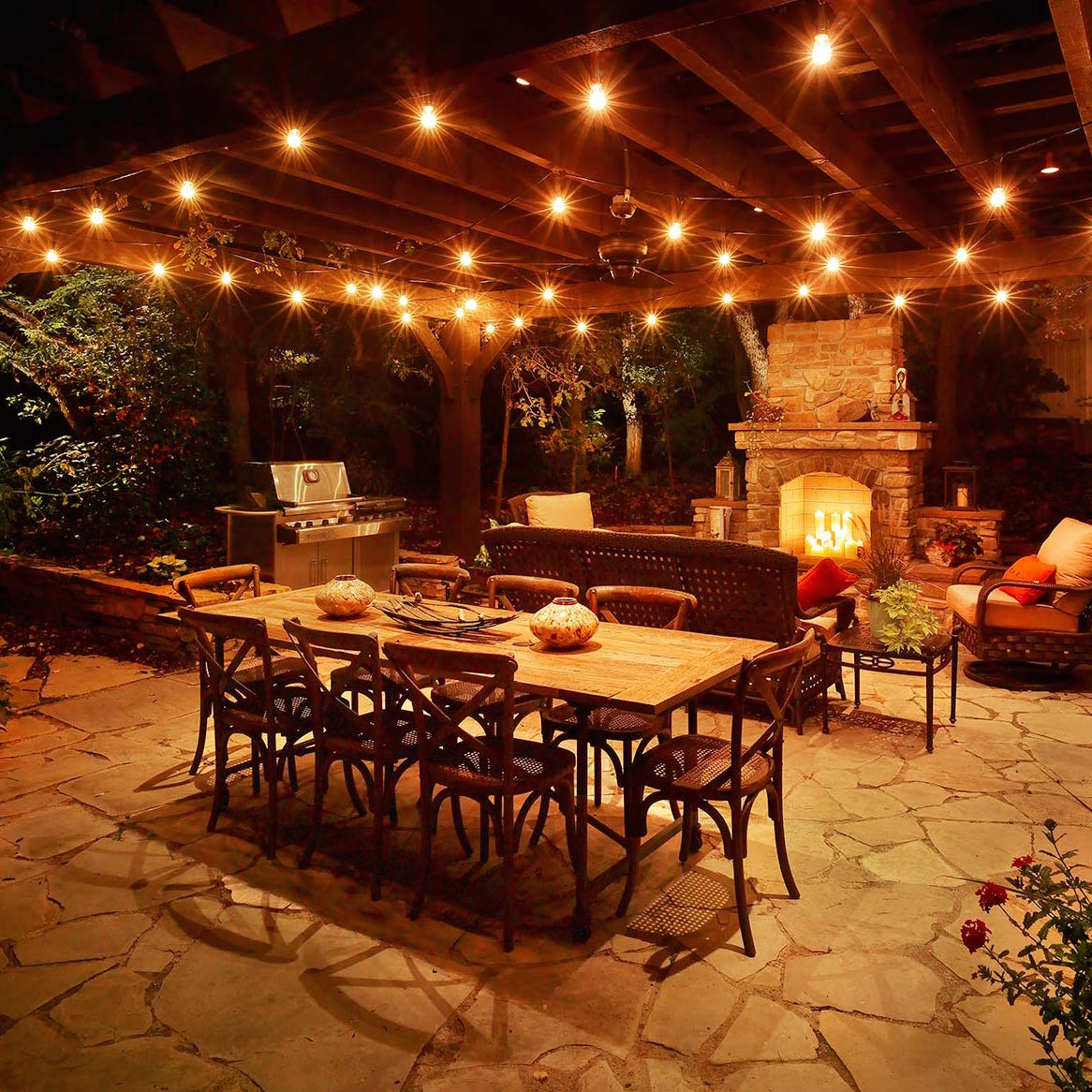 The best outdoor kitchen lighting for al fresco dining aloadofball Gallery