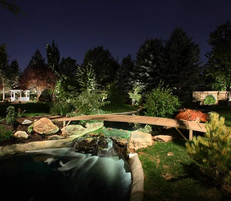 water feature lighting in Holladay Utah