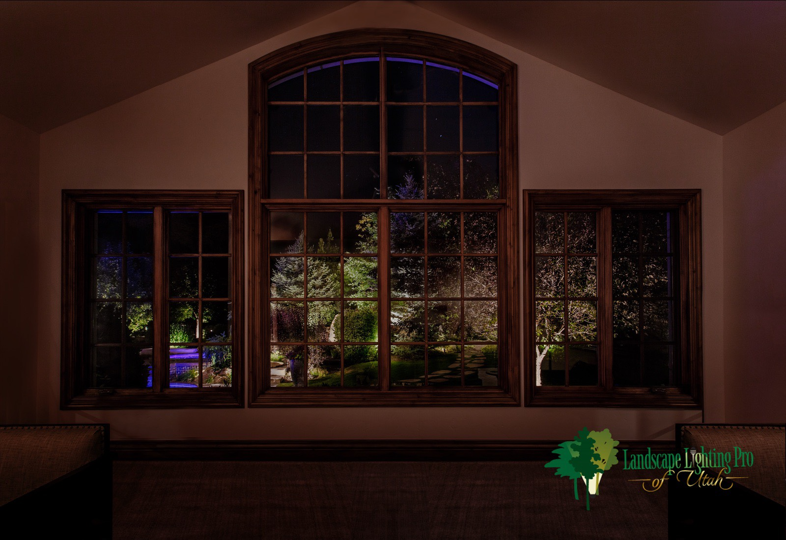 Beautiful Security Lighting From Inside Home