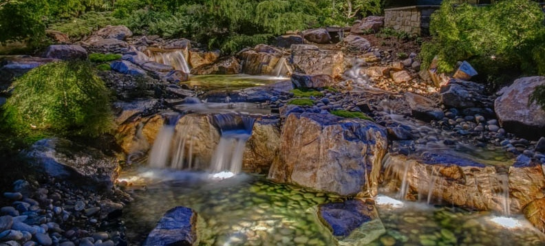 Water-feature-and-pond-lighting-Utah-2