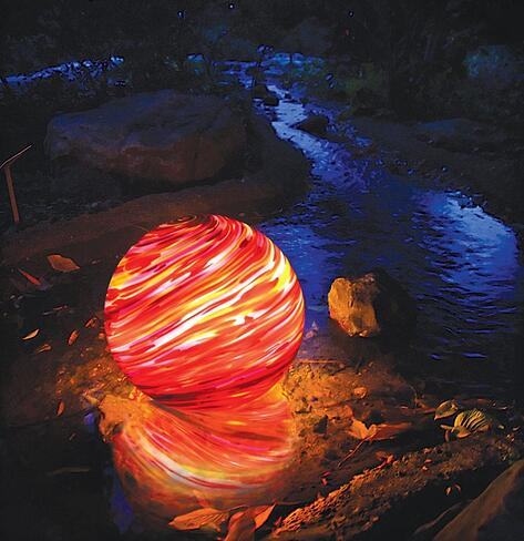 Water-feature-pond-orb-lighting