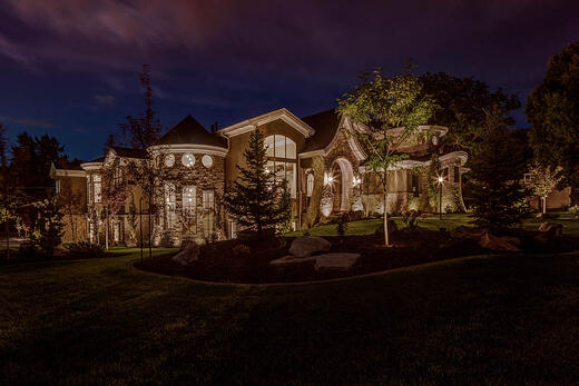 Architectural up lighting the alternative to exterior soffit lighting aloadofball Image collections