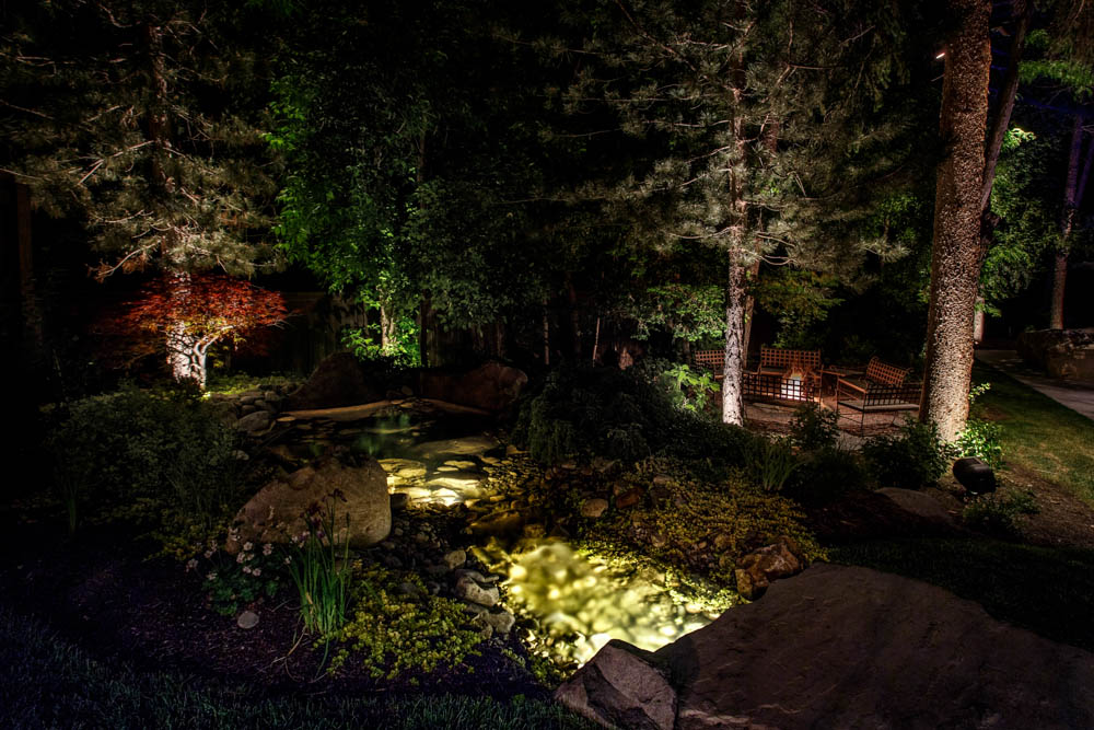 fire water landscape lighting salt lake city utah - Landscape Lighting Design Ideas