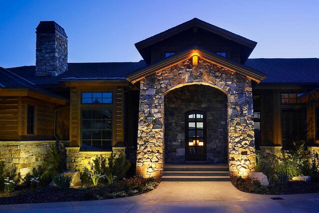 Downlighting vs uplighting which landscape lighting do you need outdoor security and entry wash lighting park city aloadofball Images