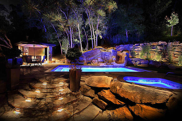 resort style outdoor lighting ideas