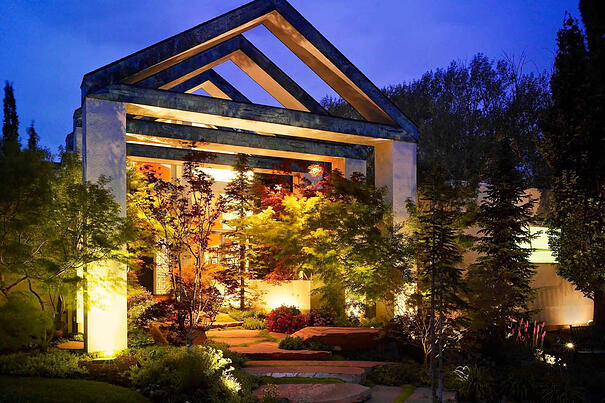 Up lighting vs flood lighting outdoor security and up wash lighting sandy utah publicscrutiny Image collections