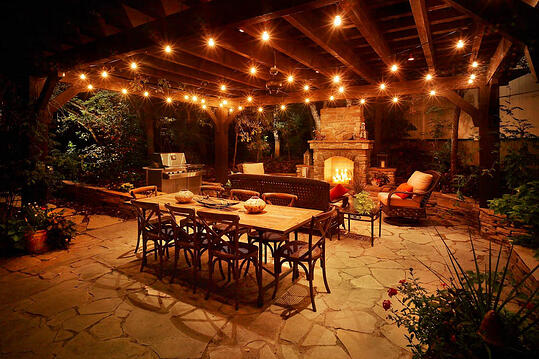 Pergola And Outdoor Kitchen Patio Lighting Draper Utah