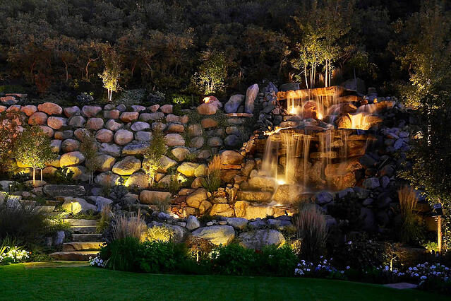 The fourth element in a successful low voltage landscape lighting pond and waterfall feature wash pathway lighting salt publicscrutiny Image collections