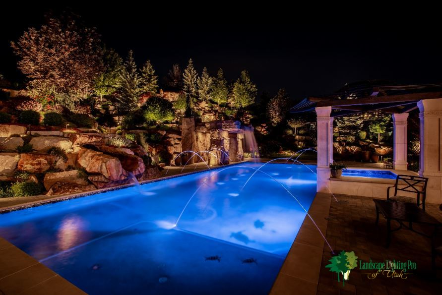 Water Feature Pond And Pool Lighting Ideas Pictures