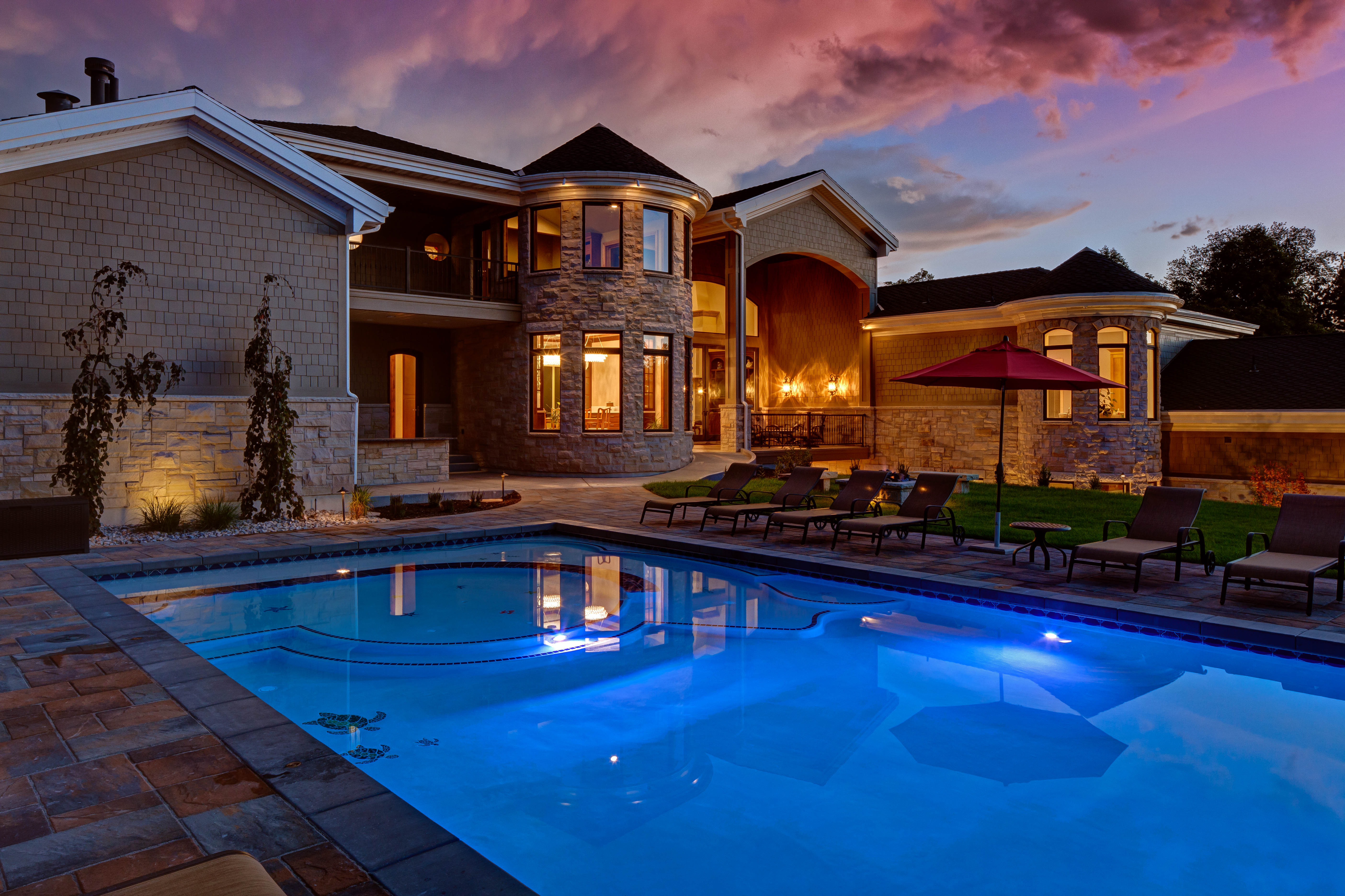 Landscape lighting for value beauty and security swimming pool lighting landscape outdoor lighting utah publicscrutiny Image collections
