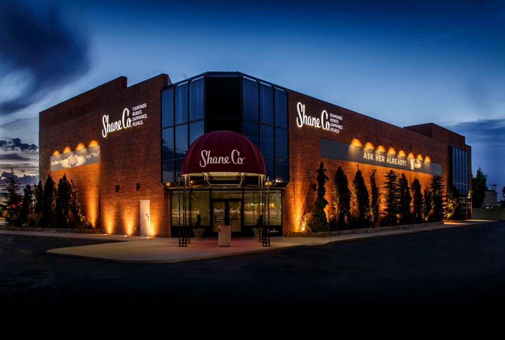 Commercial landscape lighting ideas and pictures business commercial store front outdoor lighting utahg aloadofball Image collections