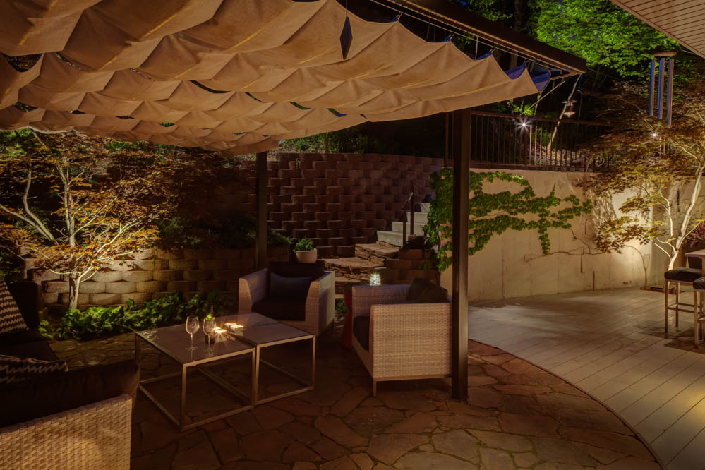 Patio pergola and deck lighting ideas and pictures - Houses large patios ...