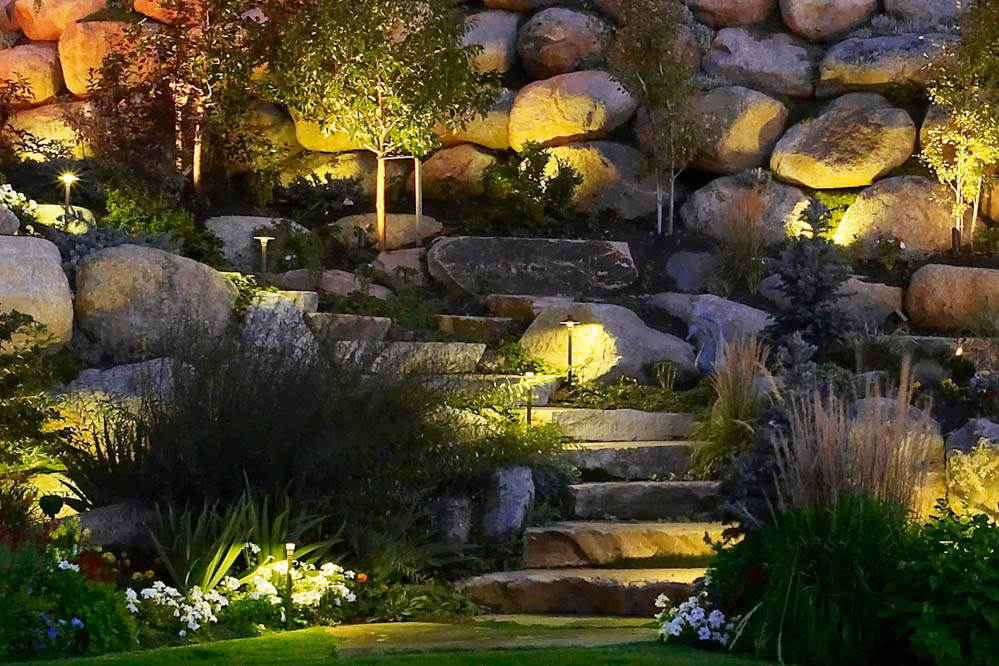 Pathway and Step Lighting Ideas and Pictures on accessories ideas, diy painting ideas, solar light ideas, front walkway ideas, path garden ideas, october wedding decoration ideas, walkways and pathways ideas, landscaping ideas, solar powered ideas, path paving ideas, rock painting ideas, diy walkway ideas,