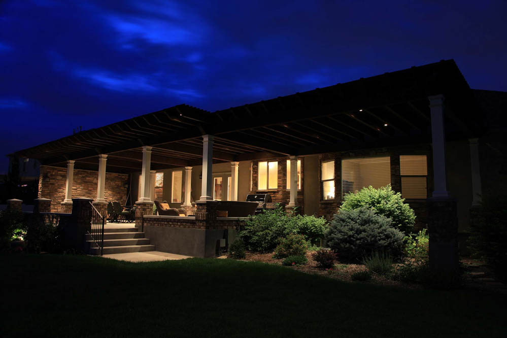 Patio pergola and deck lighting