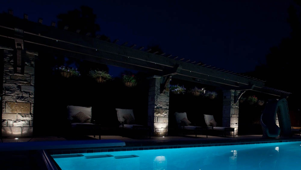 Highlight pergola to create a beautiful backdrop